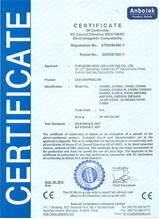 卡丘熊LED控制器CE认证证书